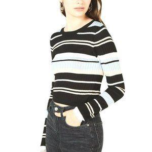 Material Girl Juniors' Striped Rib-Knit Sweater